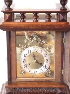 Large Antique Mahogany Mantel Table Clock C1890