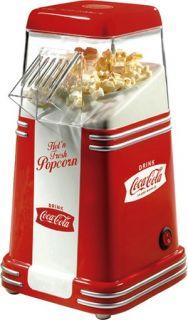 Cola Hot Air Popcorn Popper Machine, Small Retro Home Pop Corn Maker