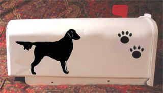 Flat Coated Retriever Dog Mailbox Name House Number Included in Price