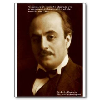 Kahlil Gibran Wisdom Proud Quote Gifts & Cards Postcards