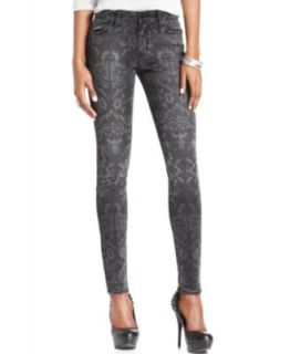 Else Jeans Skinny Jeans, Leopard Print Metallic Coated Denim