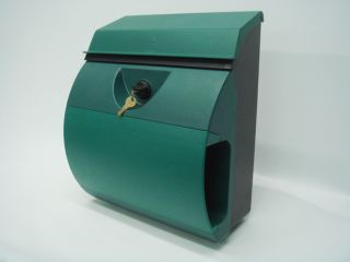 Large Locking Mailsafe Plastic Wall Mount Mailbox