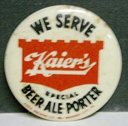 1950s Kaiers Special Pinback Button Mahanoy City PA