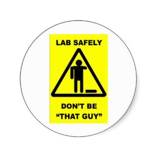 Lab Safety 1 Round Stickers