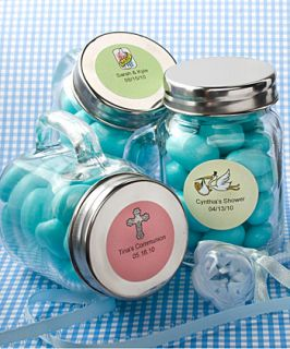 72 Personalized Glass Mason Jars Baby Shower Favors