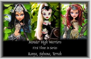 OOAK Monster High Doll  Custom Warrior Doll   Cleo Makeover Dreadlocks
