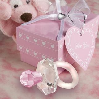 50 Choice Crystal Pink Pacifier Baby Shower Favors
