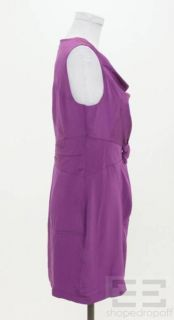 Madison Marcus Purple Silk Cowl Neck Sleeveless Dress Size Small New