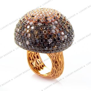 18K Rose Gold Woodland Mushroom Ring