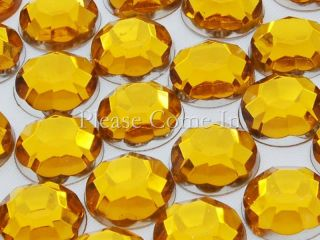 100 to 1 000 10mm Flat Back Round Rhinestones Crystal Gem Scrapbook