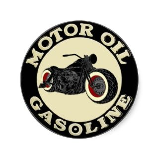 Harley Davidson   Bobber   engine oil   Gasoline Round Sticker