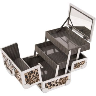 Cosmetic Makeup and Accessories Aluminum Train Case Prefect for