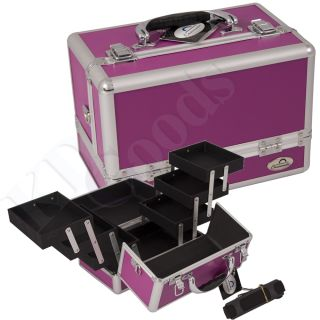 Makeup Accessories Cosmetic Organizer Aluminum Train Case P1PK