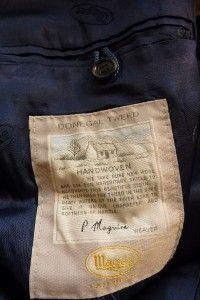 Magee Donegal Tweed Blue Multi Fleck Hacking Jacket Sport Coat 42 R