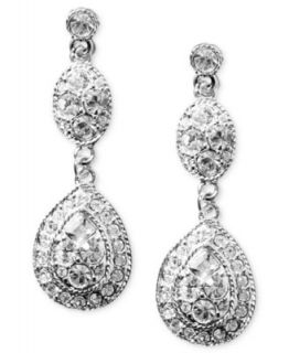Givenchy Earrings, Silver tone Crystal Bridal Earrings   Fashion