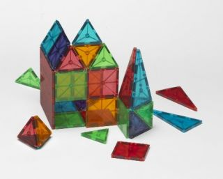 New Magna Tiles Clear Colors 100 Piece Set
