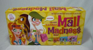 MALL MADNESS ELECTRONIC SHOPPING SPREE BOARD GAME THAT TALKS 2004
