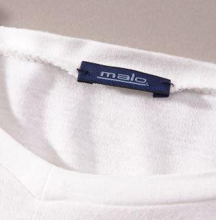 Mint $185 Malo White Long Sleeve Extrafine Cotton Shirt T Shirt 50 M