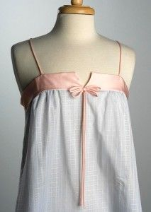 Vtg 80s  Alice Maloof Night Gown Nightgown Blue Pink