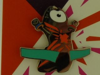 Olympic Paralympic 2012 Pin Badge Wenlock Mandeville Logo