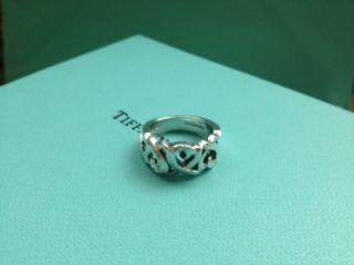 Authentic Tiffany Co 925 Paloma Picasso Loving Hearts Ring Sz 7