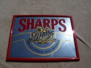 Sharps Miller Non Alcoholic Malt Beverage Mirror Sign