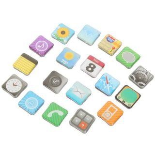 18 Apple iPhone Apps Novelty Fridge Magnets App Application Icons Lot