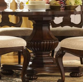 Francis 7pcs Traditional Square or Round Pedestal Dining Room Table