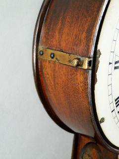 Antique American Patent Time Piece Mahogany Banjo Clock