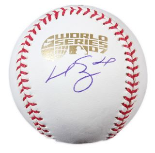 Manny Ramirez Signed 2007 World Series Baseball MLB Holo