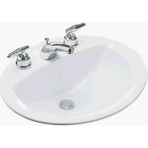 Mansfield Drop in Self Rimming Bone Sink for Centerset