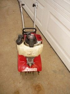 GAS MANTIS 4 CYCLE TILLER CULTIVATOR HONDA ENGINE. IN GOOD SHAPE WORKS
