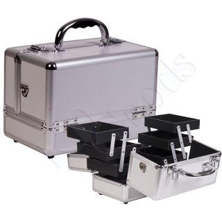 Makeup Accessories Cosmetic Organizer Aluminum Train Case C0001PPSL