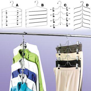 Tier Trouser Pants Skirt Chrome Black Vinyl Hanger