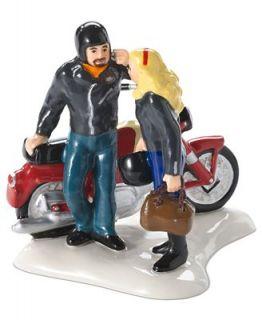 Department 56 Collectible Figurine, Snow Village Harley Ride