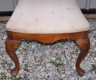 Antique Victorian Wooden Dining Maple Cushion Chair