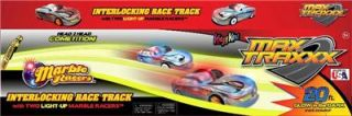 Starter Set Marble Racer Light Up Car Racing Race Glow in Dark Track