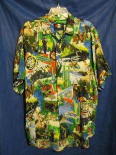 Vintage? HAWAIIAN SHIRT Button Up Rayon BAJA X MALCOLM SMITH sz M