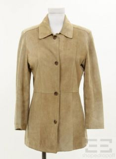 Marc New York Andrew Marc Beige Suede Button Front Jacket Size XS