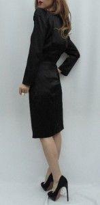 BN Auth by Malene Birger Black Silk Cocktail Dress UK10 38