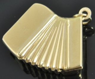 Estate Vintage 14k Yellow Gold Mambo Accordian Music Instrument 3D