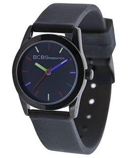 BCBGeneration Watch, Womens Black Silicone Strap 28mm GL4199   All