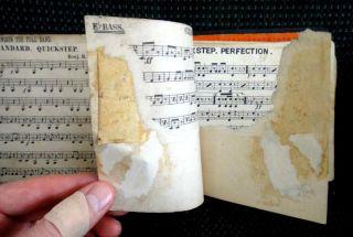 1892 Antique Tuba Sheet Music Bound Book Marching Band Oskaloosa IA