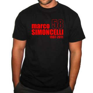 Marco SIMONCELLI Memorial Rip Moto GP Tshirt All Sizes 3