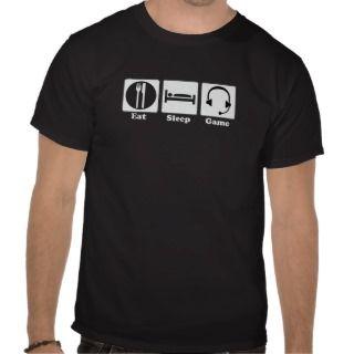 Eat Sleep Game White Logo Tee Shirts