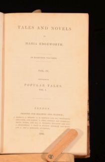 1832 33 7VOL Tales and Novel Maria Edgeworth Popular Tales Fashionable