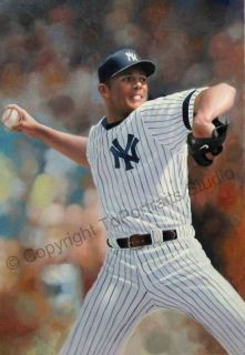 Mariano Rivera New York Yankees MLB Canvas Oil Painting