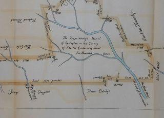 Springton Manor Chester County Pennsylvania 1763 Land Grant Map