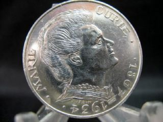 France Silver Coin 100 Francs Marie Curie 1984