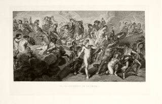 Antique Print Reign Marie de Medici Cycle Rubens 1873